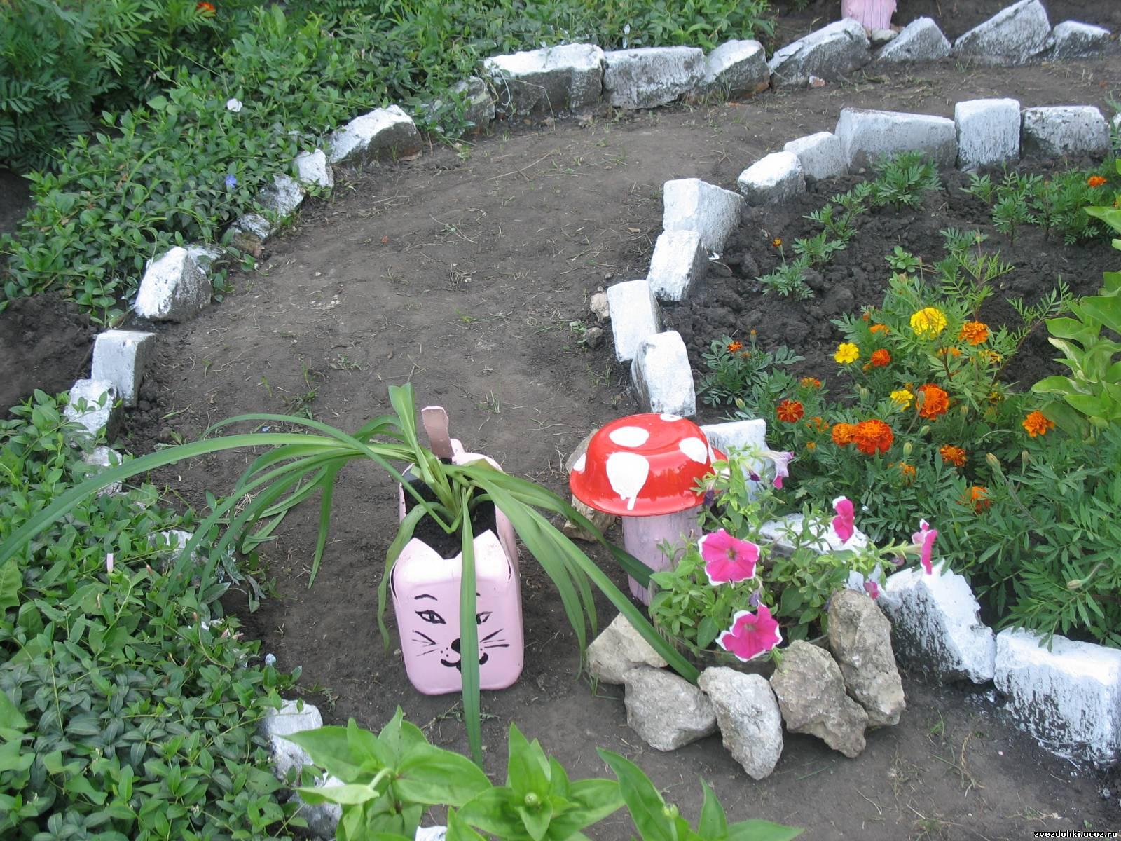 Клумбы и цветники своими руками из подручных материалов мастер